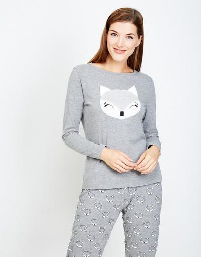 Lichtgrijze pyjama